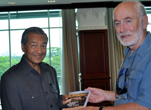 Former Malaysian Prime Minister, Tun Dr Mahathir Mohammad and Shafiq Morton