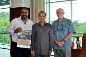 Former Prime Minister, Dr Mahathir Mohamed, with Fajr Symphony's Dr Yunus Yasin